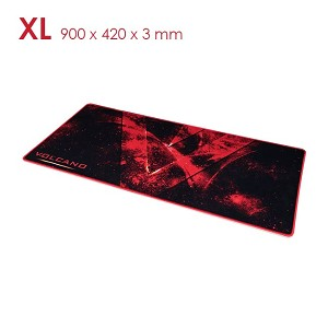 Modecom VOLCANO EREBUS - XL Gaming Mouse mat - 900 x 420 x 3 mm - RED
